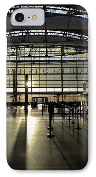 Sfo International Terminal From The Inside IPhone Case by Alex King