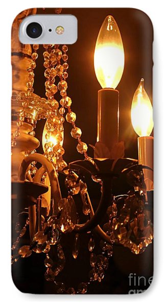 IPhone Case featuring the photograph Shabby Chandelier Bling 2 by Margaret Newcomb