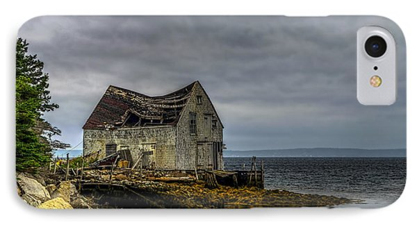 Shack By The Sea IPhone Case by Ken Morris