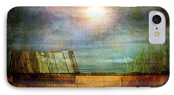 IPhone Case featuring the photograph Shack On The Prairie Corner  by Sandra Foster