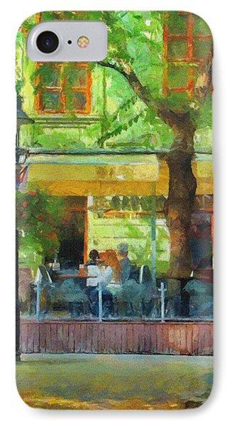 Shaded Cafe Phone Case by Jeff Kolker