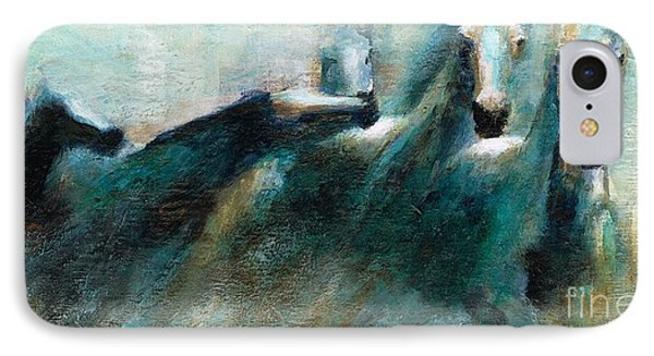 Shades Of Blue IPhone Case by Frances Marino