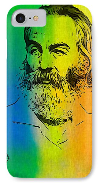 Shades Of Walt Whitman IPhone Case by Dan Sproul