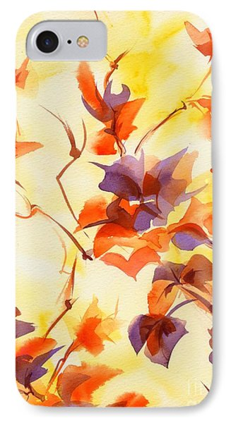 Shadow Leaves IPhone Case by Summer Celeste