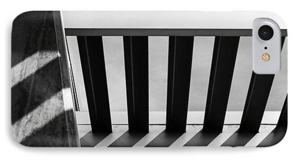 IPhone Case featuring the photograph Shadow Lines - Architectural Abstracts by Steven Milner