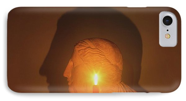 Shadow Of A Bust In Candle Light IPhone Case by Dorling Kindersley/uig