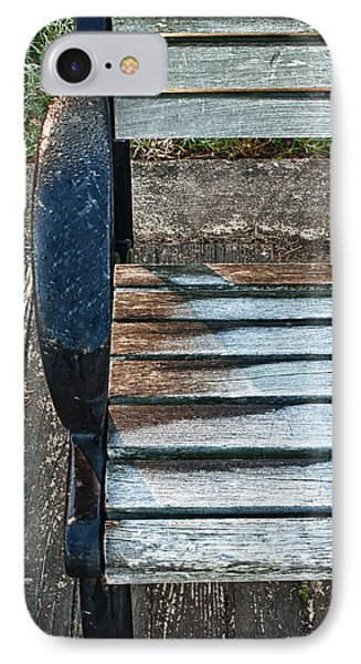 Shadow Protecting Frost On Bench IPhone Case by Gary Slawsky