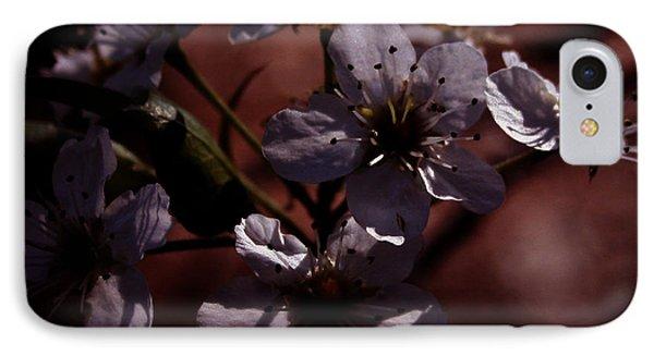 Shadowed Flowers IPhone Case