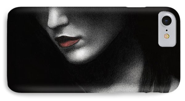 IPhone Case featuring the painting Shadowed In My Mind by Pat Erickson