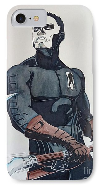 Shadowman II IPhone Case by Justin Moore