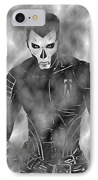 Shadowman In The Dead Grounds IPhone Case by Justin Moore