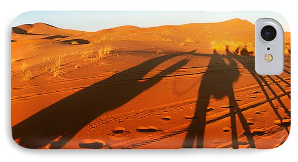 Shadows Of Camel Riders In The Desert IPhone Case