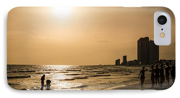 Shadows Of The Beach IPhone Case by David Morefield
