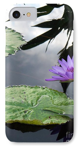 Shadows On A Lily Pond IPhone Case by Eric  Schiabor