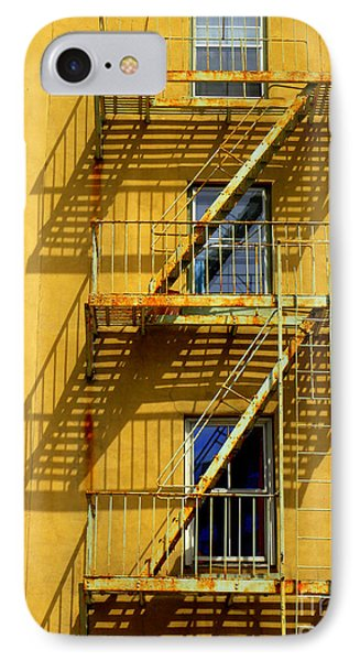 Shadows On Tenth Avenue IPhone Case by Robert Riordan