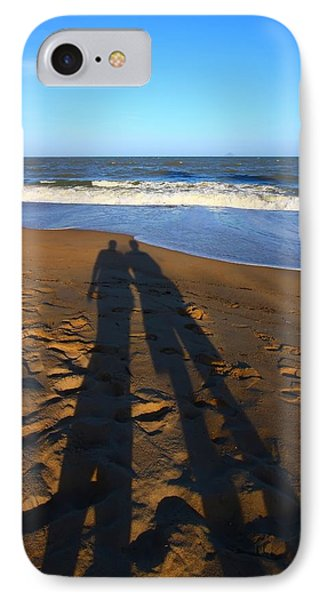 Shadows On The Beach IPhone Case by FireFlux Studios