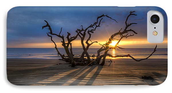 Shadows On The Sand Phone Case by Debra and Dave Vanderlaan