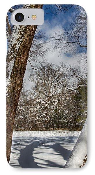 Shadows On The Snow Phone Case by John Haldane