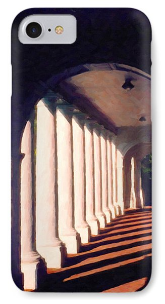IPhone Case featuring the digital art Shadows University Of Virginia by Spyder Webb