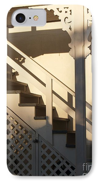 Shadowy Lambertville Stairwell Phone Case by Anna Lisa Yoder