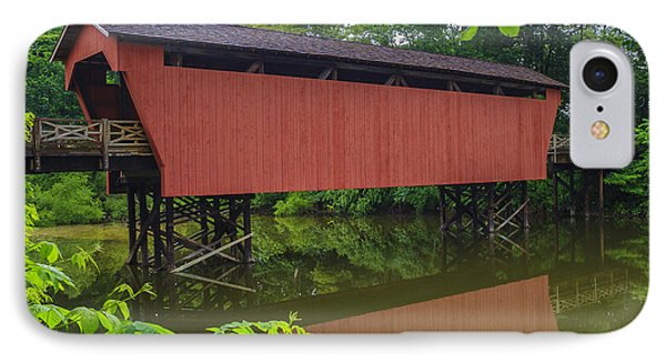 Shaeffer Or Campbell Covered Bridge Phone Case by Jack R Perry