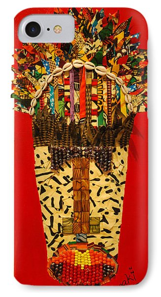 IPhone Case featuring the tapestry - textile Shaka Zulu by Apanaki Temitayo M
