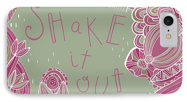 Folk Art iPhone 7 Case - Shake It Out by Susan Claire