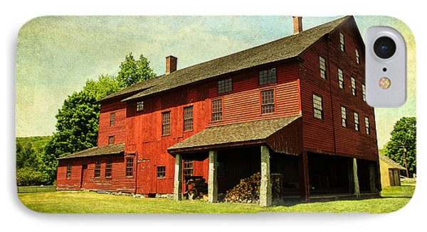 Shaker Village Barn IPhone Case by Trina  Ansel