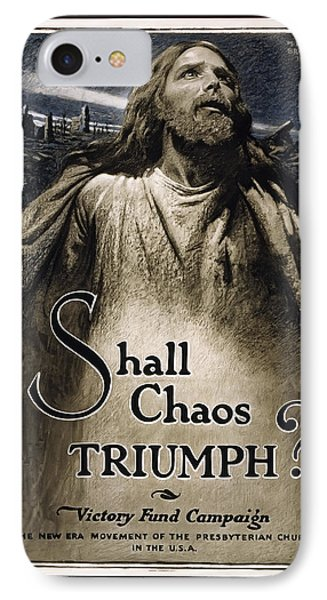 Shall Chaos Triumph - W W 1 - 1919 IPhone Case by Daniel Hagerman