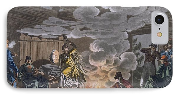 Shaman Of The Theliot Tatars, 1812-13 IPhone Case by E. Karnejeff