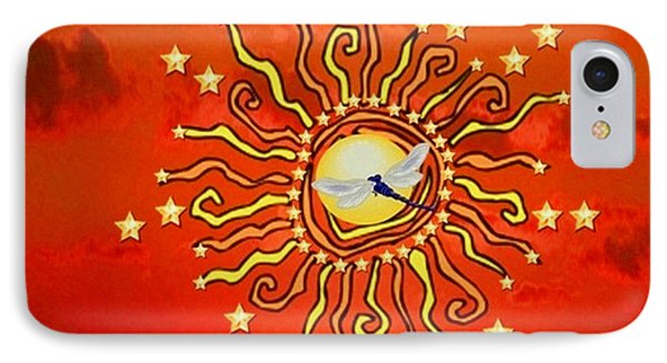 Shaman Sun IPhone Case by Mary Anne Ritchie