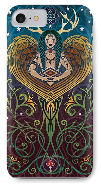 Shaman V.2 IPhone Case by Cristina McAllister