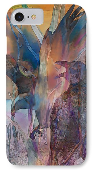 IPhone Case featuring the digital art Shaman's Friends by Ursula Freer