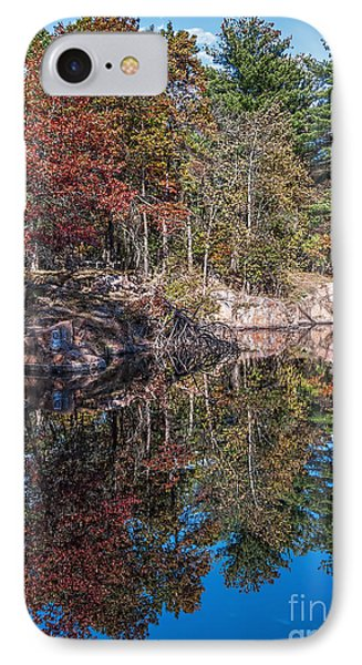 Shambeau Park Fall Reflection IPhone Case