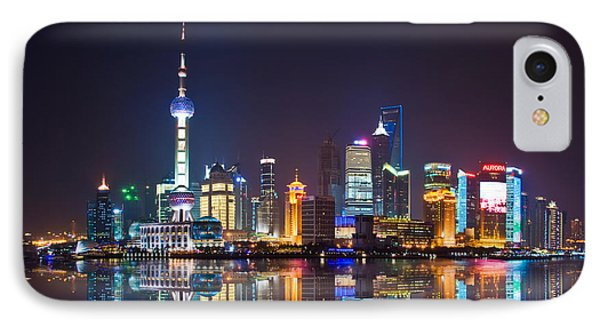 Shanghai iPhone 7 Case - Shanghai Reflections by Delphimages Photo Creations