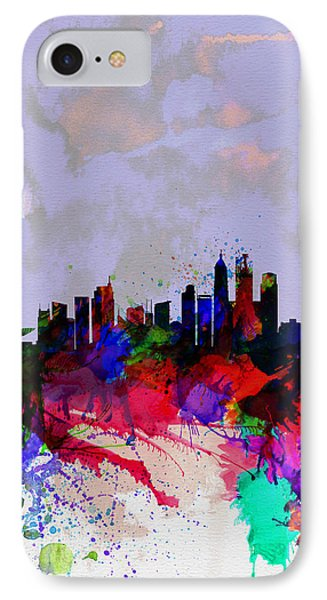 Shanghai Watercolor Skyline IPhone Case