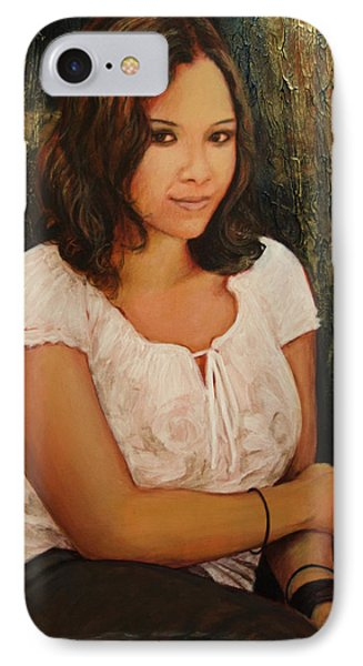 IPhone Case featuring the painting Shannon by Ron Richard Baviello