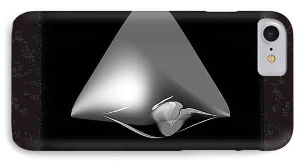Shapes-black And White IPhone Case by Ines Garay-Colomba