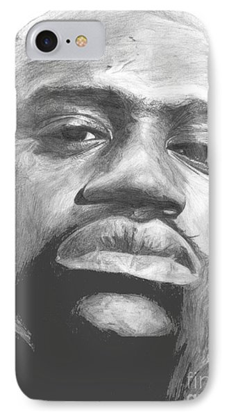 IPhone Case featuring the drawing Shaq by Tamir Barkan