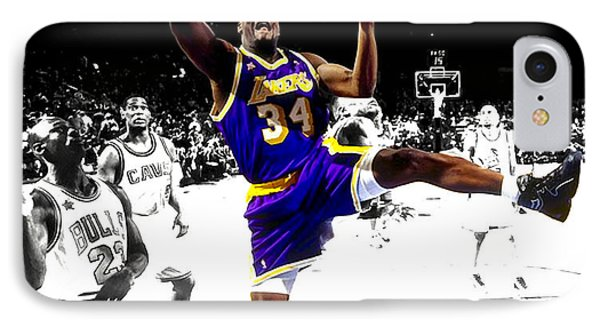 Shaquille O Neal IPhone Case by Brian Reaves