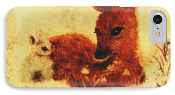 IPhone Case featuring the painting Sharing Secrets by Hazel Holland