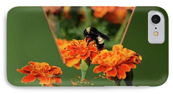 IPhone Case featuring the photograph Sharing The Nectar Of Life by Thomas Woolworth