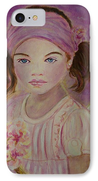 Sharissa Little Angel Of New Beginnings Phone Case by The Art With A Heart By Charlotte Phillips