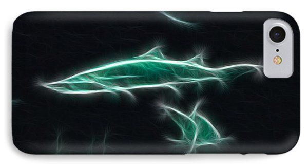 Shark-09433-fractal IPhone Case by Gary Gingrich Galleries