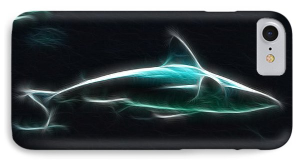 Shark-09436-fractal IPhone Case by Gary Gingrich Galleries