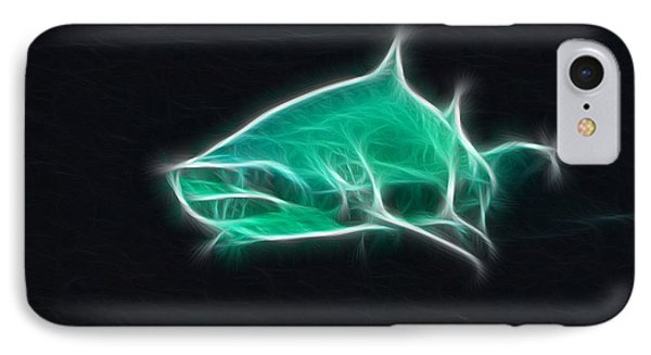 Shark-09441-fractal IPhone Case by Gary Gingrich Galleries