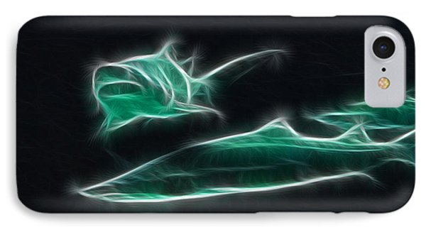 Shark-09442-fractal IPhone Case by Gary Gingrich Galleries