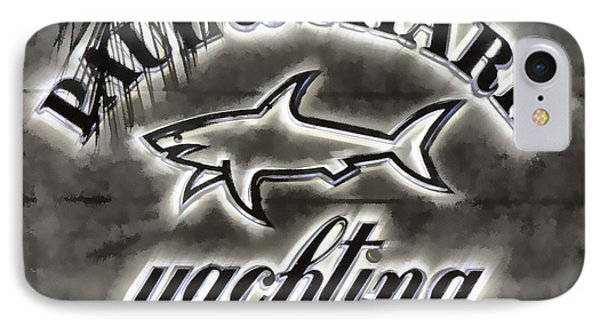 Shark Sign IPhone Case by Chuck Staley