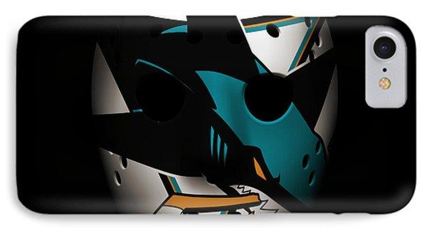 Sharks Goalie Mask IPhone Case by Joe Hamilton