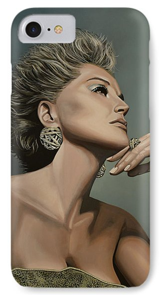 Sharon Stone IPhone Case by Paul Meijering